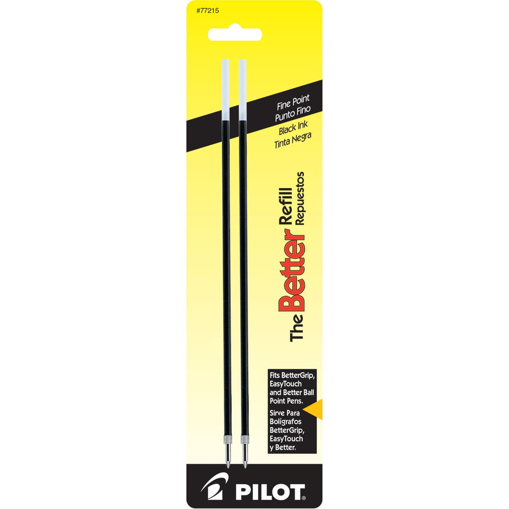 Pilot Nonretract Ballpoint Pen Refill in Black - Fine Point - Pack of 2 Ballpoint Pen Refill