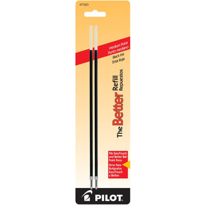 Pilot Nonretract Ballpoint Pen Refill in Red - Medium Point - Pack of 2 Ballpoint Pen Refill