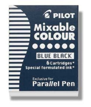 Pilot Parallel Ink Cartridges in Blue-Black - Pack of 6 Fountain Pen Cartridges