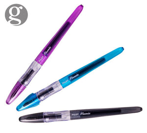 Pilot Plumix Fountain Pen Set in Black/Purple/Blue Gift Set