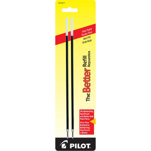 Pilot Retract Ballpoint Pen Refill in Red - Fine Point - Pack of 2 Ballpoint Pen Refill