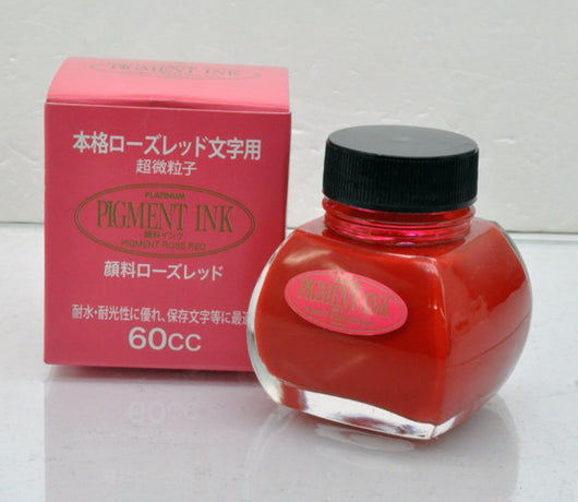 Platinum Bottled Ink in Rose Red - 60 mL Bottled Ink