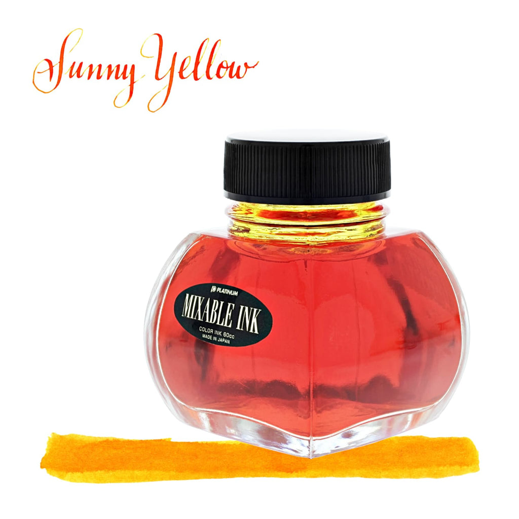 Platinum Mixable Bottled Ink in Sunny Yellow - 60 mL Bottled Ink