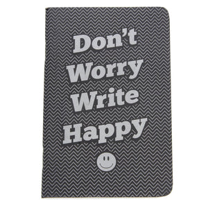 Retro 51 Notebook Lined Dont Worry Write Happy - Pocket Notebook