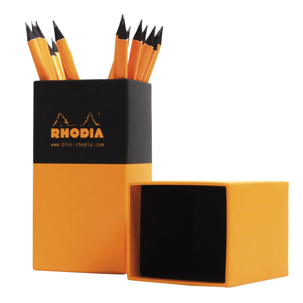 Rhodia Boutique Linden Wood Pencil in Orange - Pack of 30 Wood Pencil