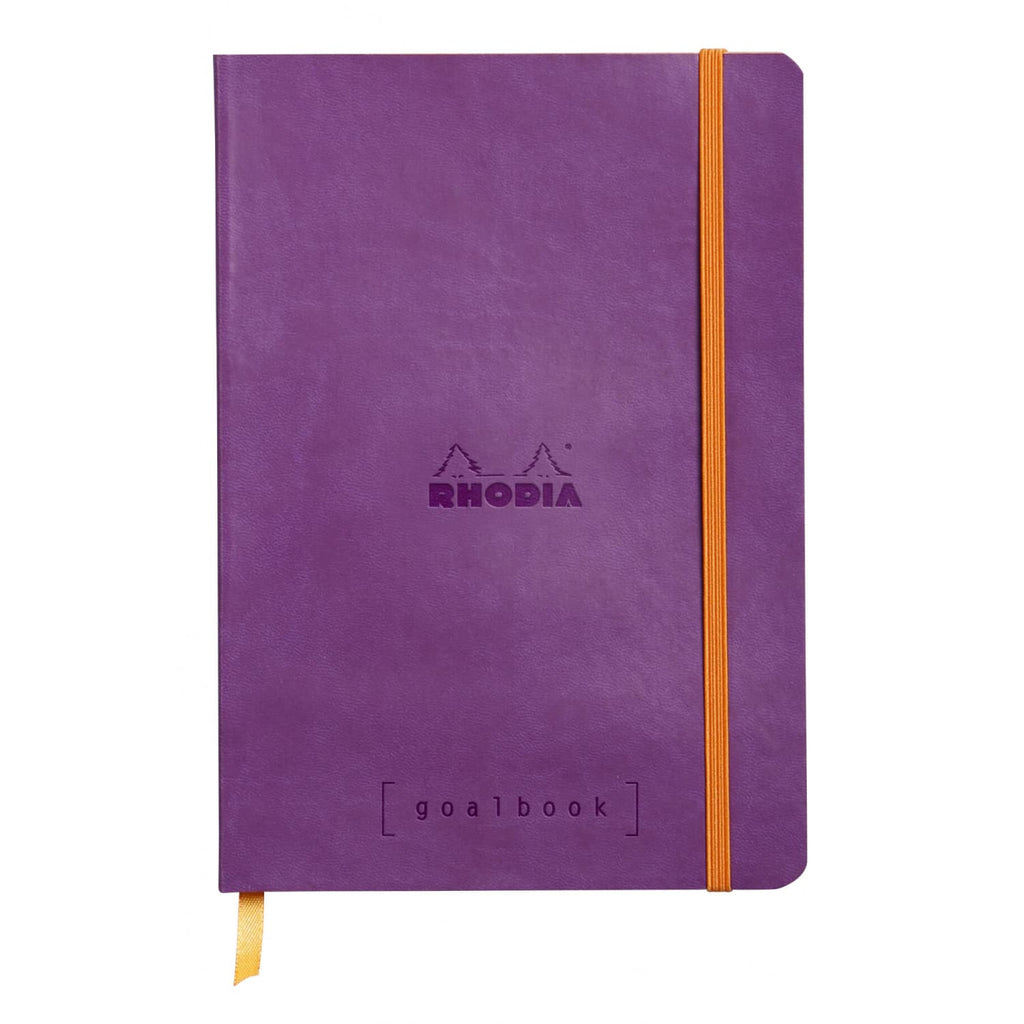 Rhodia Goalbook Dot Grid Notebook in Purple - 5.75 x 8.25 Notebook