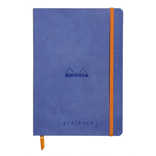 Rhodia Goalbook Dot Grid Notebook in Sapphire Blue - 5.75 x 8.25 Notebook