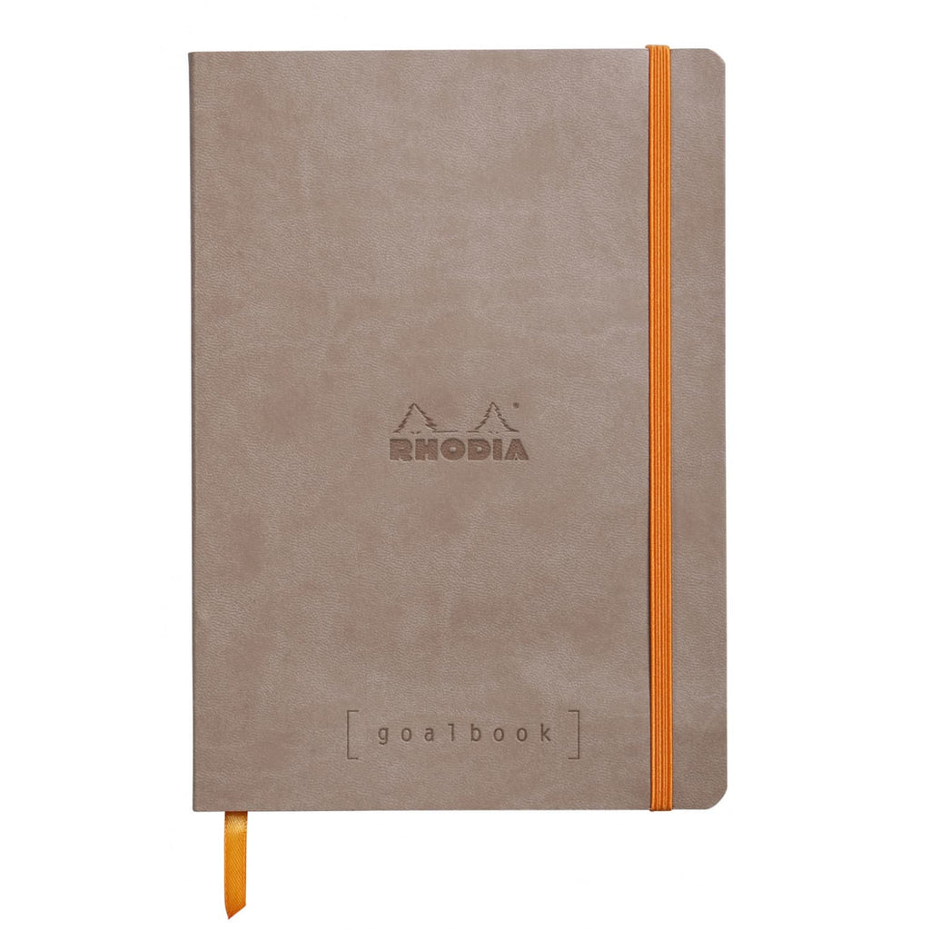 Rhodia Goalbook Dot Grid Notebook in Taupe - 5.75 x 8.25 Notebook