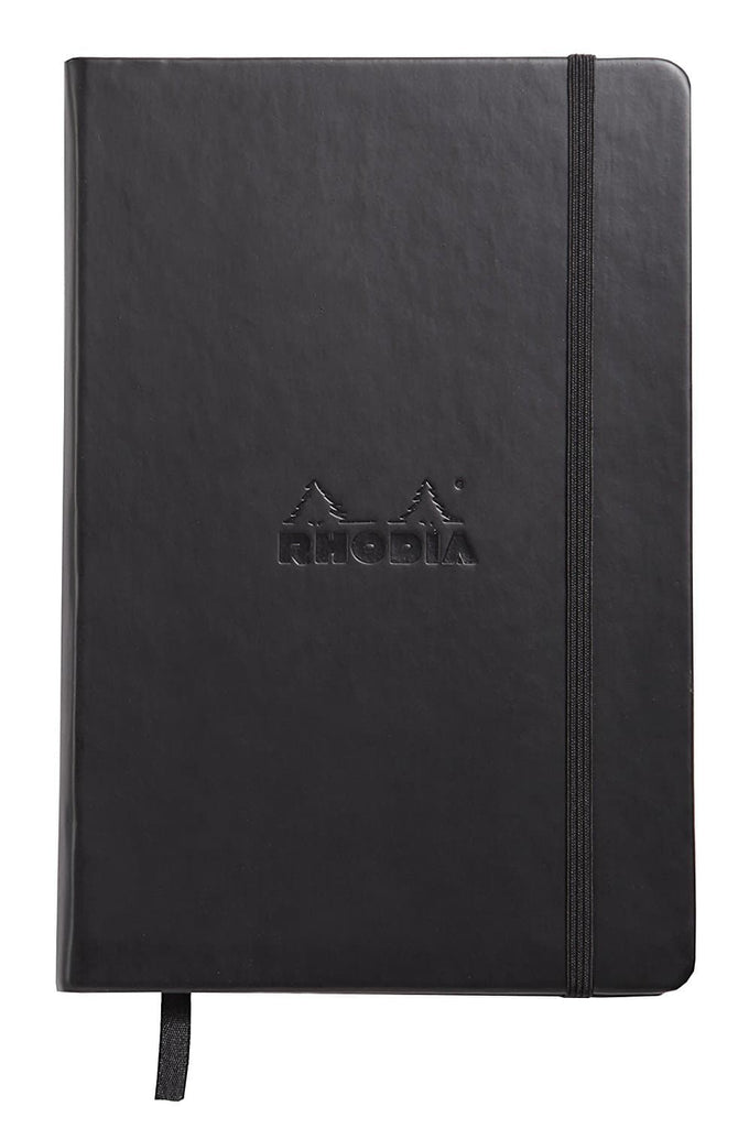 Rhodia Lined Paper Webnotebook in Black - 5.5 x 8.25 Notebook