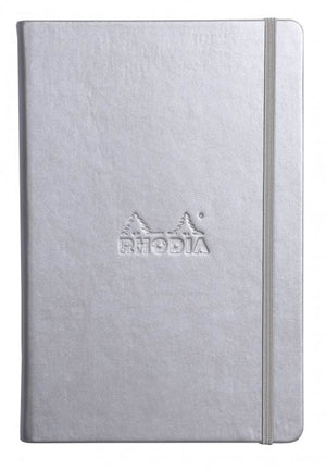 Rhodia Lined Paper Webnotebook in Silver - 5.5 x 8.25 Notebook