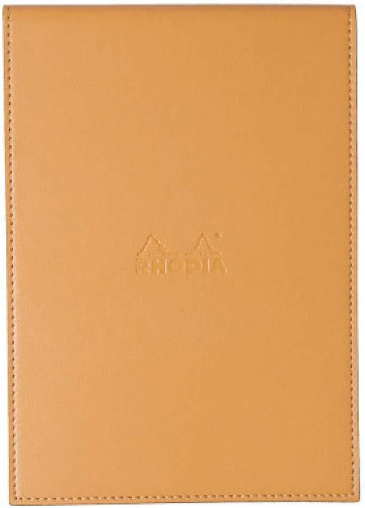 Rhodia Pad Holder in Orange with Graph Pad with Pen Loop - 6 x 8.75 Notepad