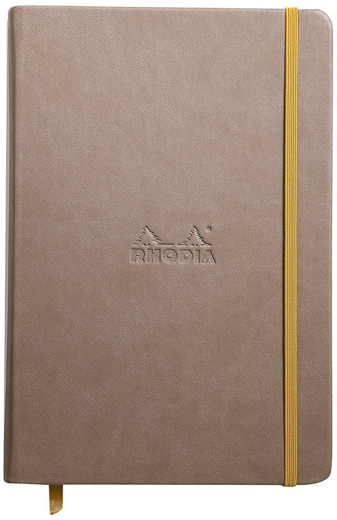 Rhodia Rhodiarama Blank Paper Notebook in Taupe - 5.5 x 8.25 Notebook