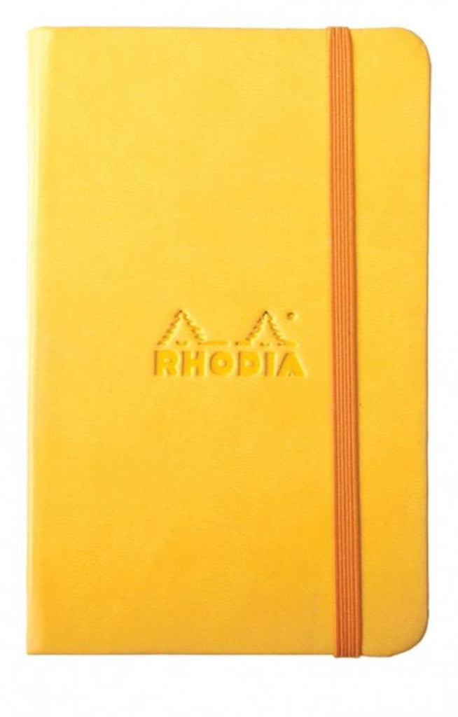 Rhodia Rhodiarama Lined Paper Notebook in Yellow - 3.5 x 5.5 Notebook