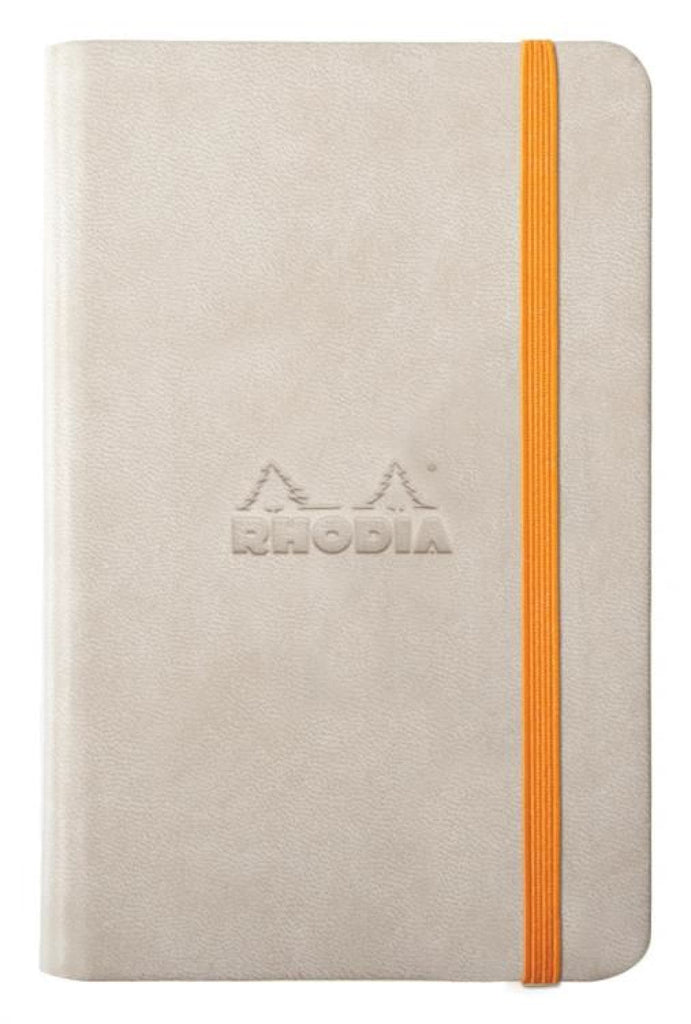 Rhodia Rhodiarama Webbies Blank Paper Notebook in Beige - 3.5 x 5.5 Notebook