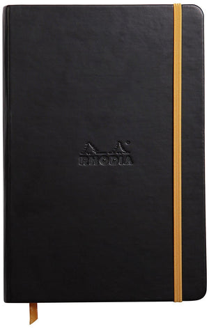 Rhodia Rhodiarama Webbies Blank Paper Notebook in Black - 5.5 x 8.25 Notebook