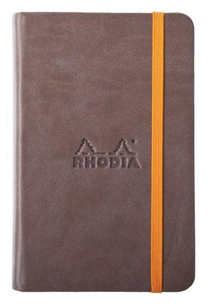 Rhodia Rhodiarama Webbies Blank Paper Notebook in Chocolate - 3.5 x 5.5 Notebook