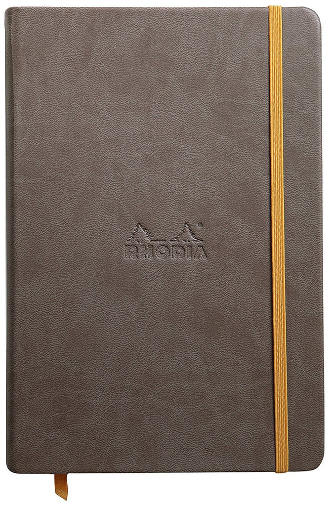 Rhodia Rhodiarama Webbies Blank Paper Notebook in Chocolate - 5.5 x 8.25 Notebook