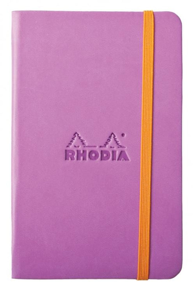Rhodia Rhodiarama Webbies Blank Paper Notebook in Lilac - 3.5 x 5.5 Notebook