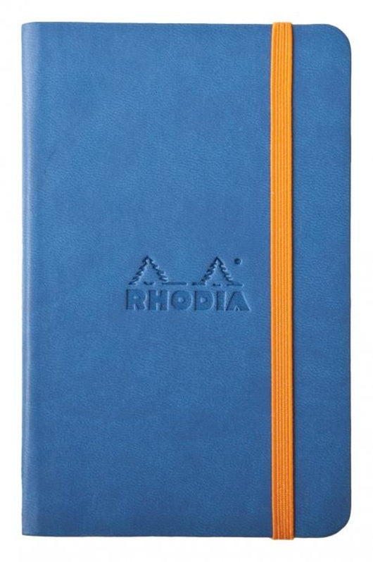 Rhodia Rhodiarama Webbies Blank Paper Notebook in Sapphire - 3.5 x 5.5 Notebook