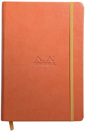 Rhodia Rhodiarama Webbies Blank Paper Notebook in Tangerine - 5.5 x 8.25 Notebook