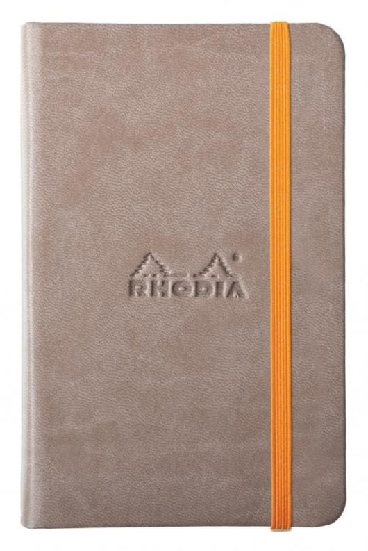 Rhodia Rhodiarama Webbies Blank Paper Notebook in Taupe - 3.5 x 5.5 Notebook