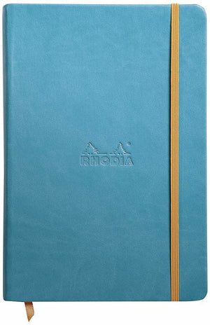 Rhodia Rhodiarama Webbies Blank Paper Notebook in Turquoise - 5.5 x 8.25 Notebook