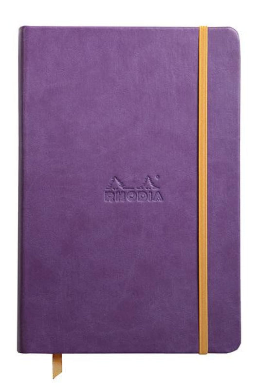 Rhodia Rhodiarama Webbies Lined Paper Notebook in Purple - 5.5 x 8.25 Notebook