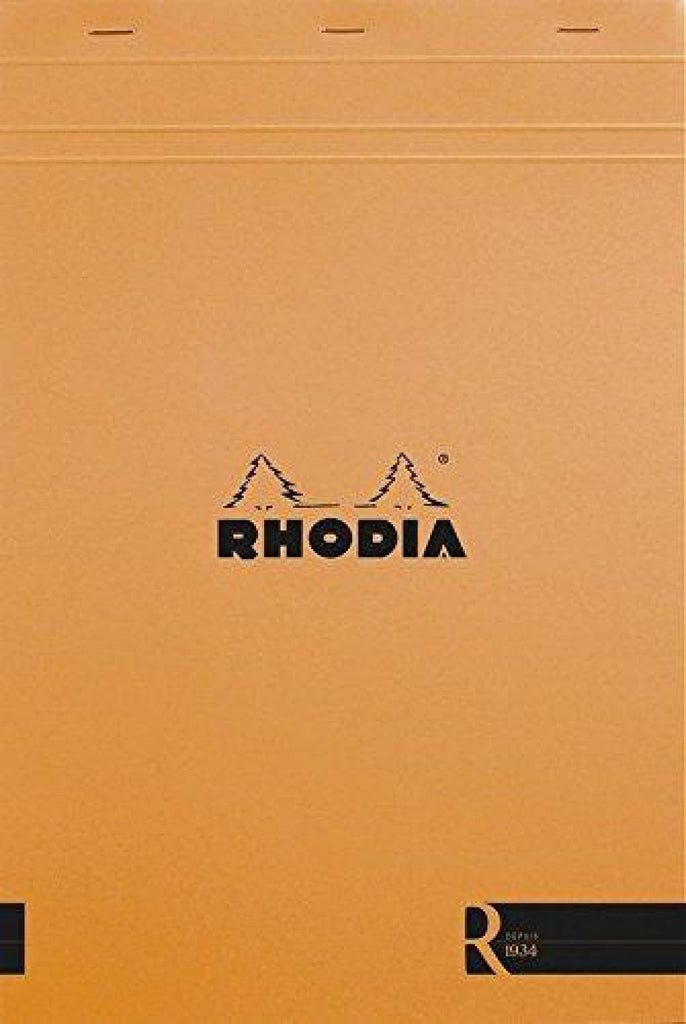 Rhodia Staplebound Blank Paper R Premium Notepad in Orange - 8.25 x 11.75 Notebook