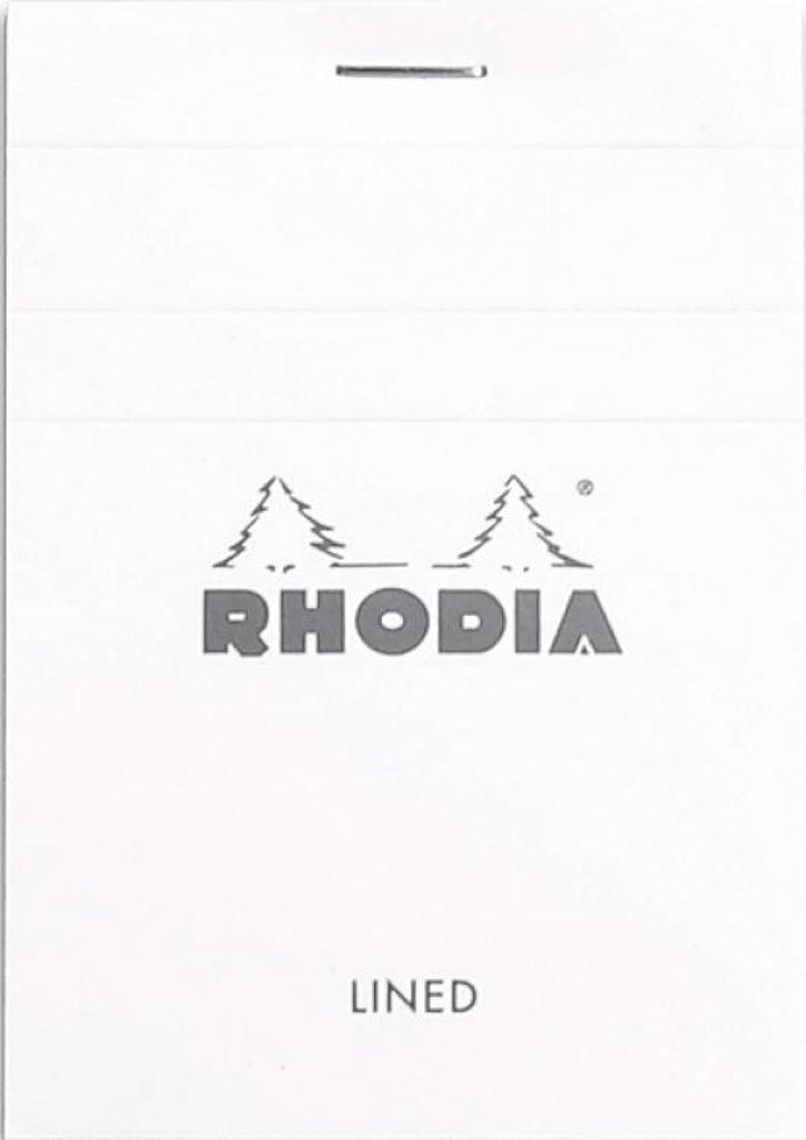 Rhodia Staplebound Lined Paper Notepad in Ice - 3 x 4 Notebook