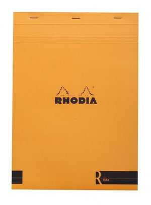 Rhodia Staplebound Lined Paper R Premium Notepad in Orange - 8.25 x 11.75 Notebook