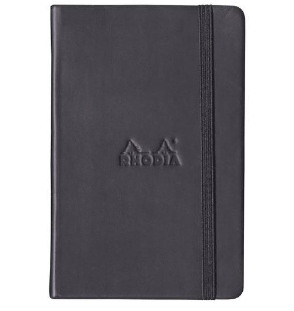 Rhodia Webnotebook Dot Grid Paper in Black - 3.5 x 5.5 Notebook