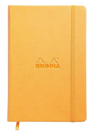 Rhodia Webnotebook Dot Grid Paper in Orange - 5.5 x 8.25 Notebook