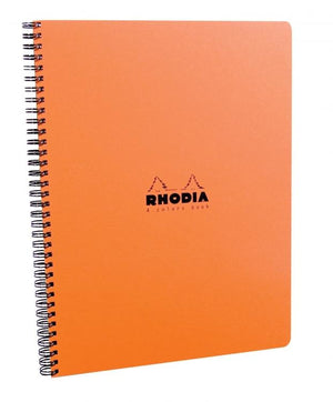 Rhodia Wirebound 4 Color Lined Paper Notebook in Orange - 9 x 11.25 Notebook