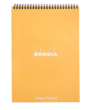 Rhodia Wirebound Dot Grid Paper Notebook in Orange - 8.25 x 11.75 Notebook