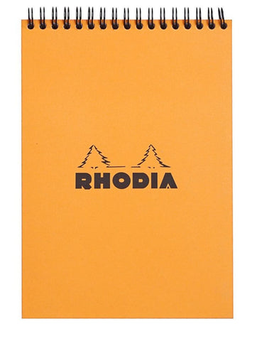 Rhodia Wirebound Graph Paper Notebook in Orange - 6 x 8.25 Notebook