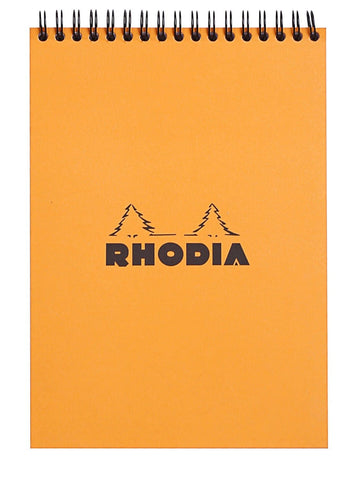 Rhodia Wirebound Lined Paper Notebook in Orange - 6 x 8.25 Notebook