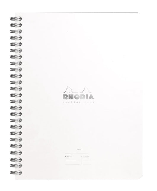 Rhodia Wiredbound Lined Meeting Book Notebook in Ice - 6.5 x 8.25 Notebook