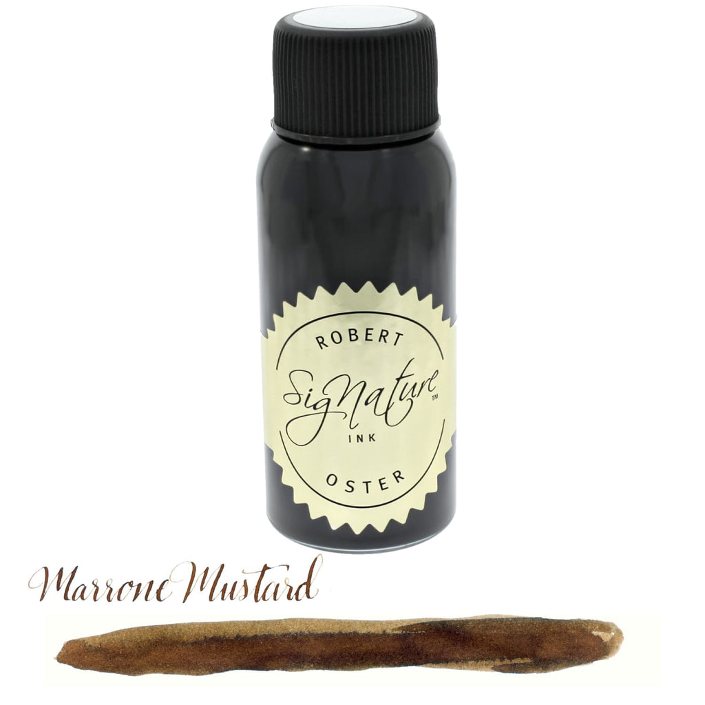 Robert Oster Bottled Ink in Marrone Mustard Brown - 50 mL Bottled Ink