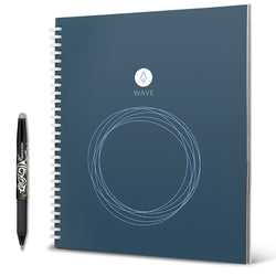 Rocketbook Wave Smart Notebook Standard Size with Pilot FriXion Pen Notebook