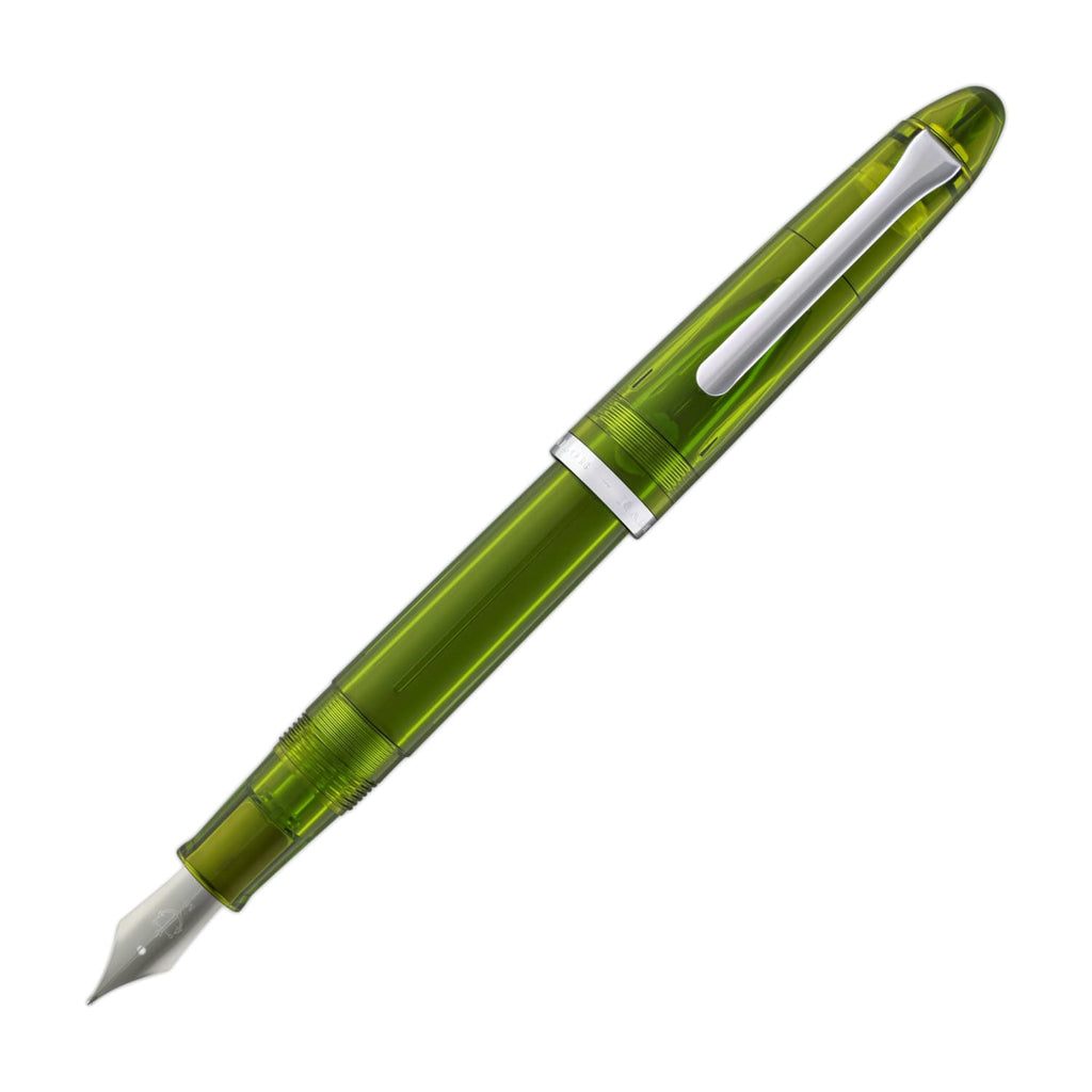 Sailor Compass 1911 Fountain Pen in Olive Transparent - Medium Fine Fountain Pen