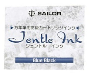Sailor Jentle Ink Cartridges in Blue Black - Pack of 12 Fountain Pen Cartridges