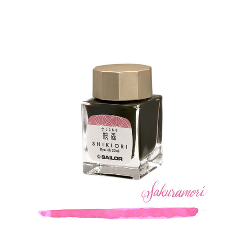 Sailor Shikiori Bottled Ink in Sakura-Mori (Cherry Blossom Pink) - 20 mL Bottled Ink