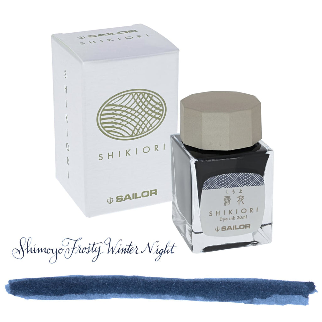 Sailor Shikiori Bottled Ink in Shimoyo (Frosty Night) - 20 mL Bottled Ink