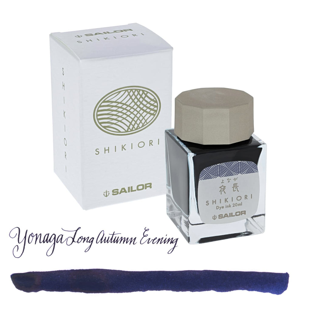 Sailor Shikiori Bottled Ink in Yonaga (Long Autumn Evening) - 20 mL Bottled Ink