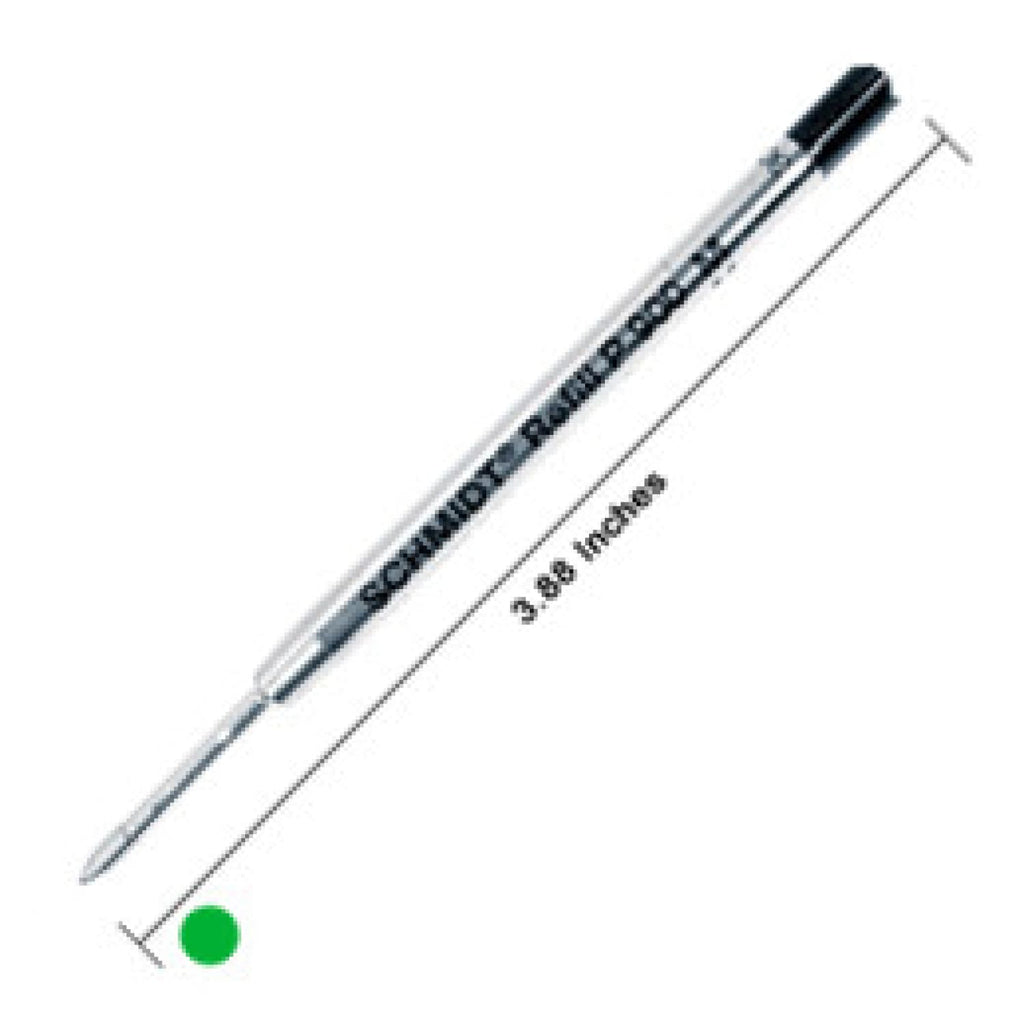 Schmidt P900 Parker Style Ballpoint Pen Refill in Green by Monteverde - Medium Point Ballpoint Pen Refill