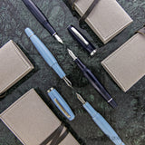Scribo Feel Fountain Pen in Grey Blue - 14kt Gold Flexible Fine Point Fountain Pen