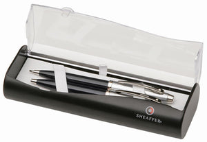 Sheaffer Gift Collection Ballpoint & 0.7mm Mechanical Pencil Set in Black & Chrome Gift Set