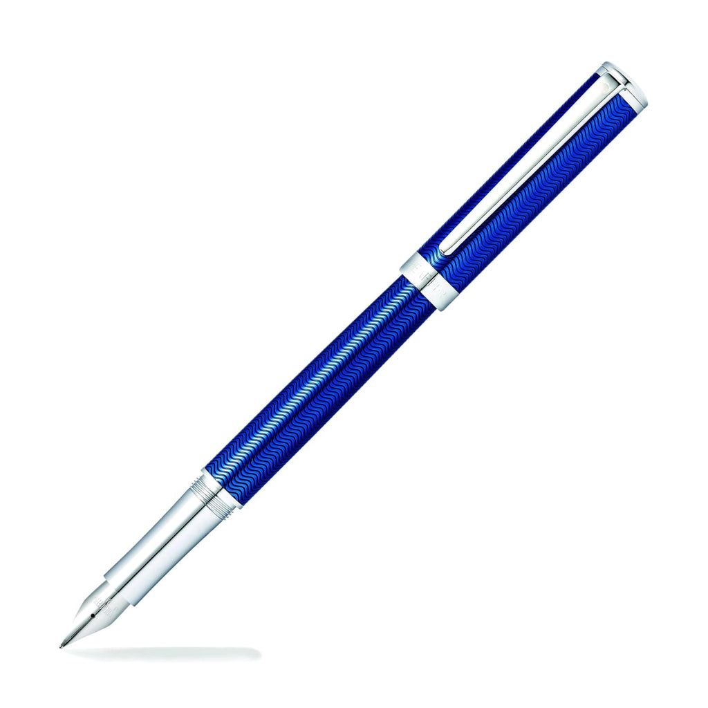 Sheaffer Intensity Fountain Pen in Engraved Translucent Blue Lacquer - Medium Fountain Pen