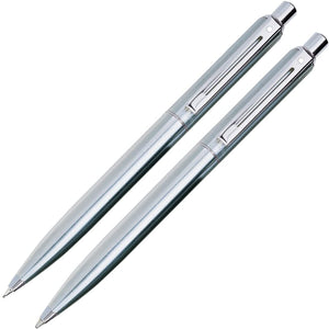 Sheaffer Sentinel Ballpoint Pen & 0.7mm Mechanical Pencil Set in Brushed Chrome Plate Finish Pen and Pencil Set