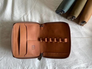 Shibui 5 Pen Case in Saddle Brown Pen Case